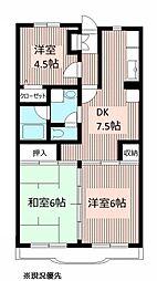 トーア・シティー弐番館[4階]の間取り