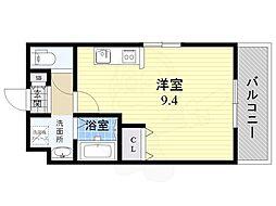 仮)都島本通4丁目新築マンション 2階ワンルームの間取り