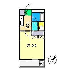 サンポートハイム高須[1階]の間取り