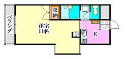TONBOマンション[3階]の間取り