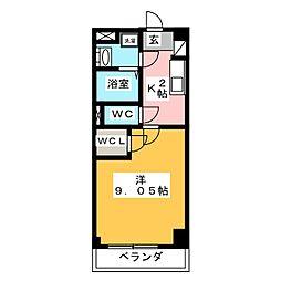 GRAN DUKE 算所[7階]の間取り