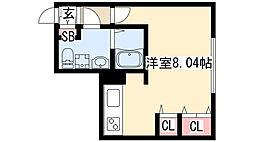 Branche覚王山 4階ワンルームの間取り