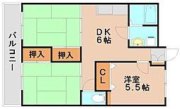 タウンライズ[3階]の間取り