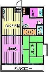 埼玉県さいたま市南区太田窪の賃貸アパートの間取り