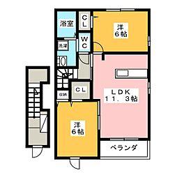 ストロベリーハウス A[2階]の間取り
