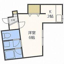 JKステージN14B[3階]の間取り