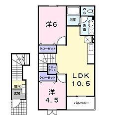 ドリーム・NN・B[2階]の間取り