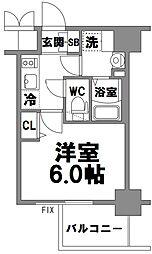 エスリード新大阪グランファースト[605号室]の間取り