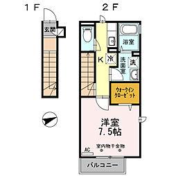 パセオ26[2階]の間取り