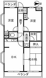 神奈川県川崎市宮前区有馬6丁目の賃貸マンションの間取り