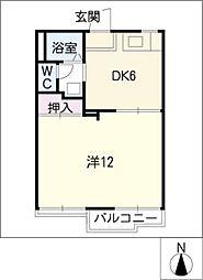 愛知県豊田市井上町3丁目の賃貸アパートの間取り