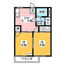 ジュネスハウス[2階]の間取り
