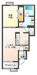 ルーチェ II[1階]の間取り