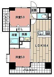 LE GRAND BLEU HAKATA 2階2LDKの間取り