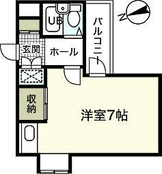 アーバン三篠[3階]の間取り