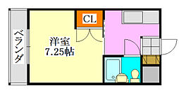 ハイネス津田沼[101号室]の間取り