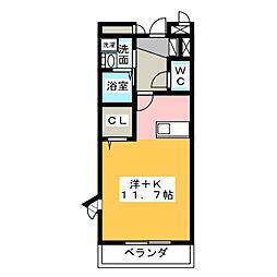 エレガンテフィールドⅡ[3階]の間取り