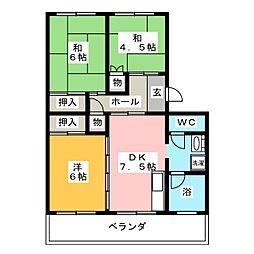 コーポひかり[3階]の間取り