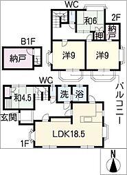 [一戸建] 愛知県名古屋市中川区小本1丁目 の賃貸【/】の間取り