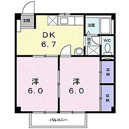 カームハウス[1階]の間取り