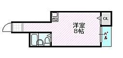 シャルム生江 2階ワンルームの間取り