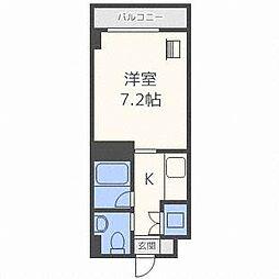 メープル北円山[8階]の間取り