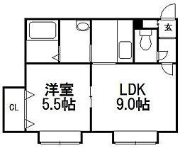 FOREST栄通B[203号室]の間取り