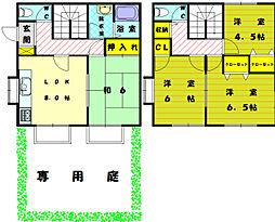[テラスハウス] 福岡県宗像市須恵2丁目 の賃貸【/】の間取り