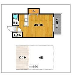 ベル21B[2階]の間取り