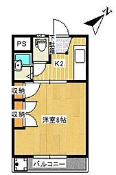 常盤ハイツA K[A202号室]の間取り