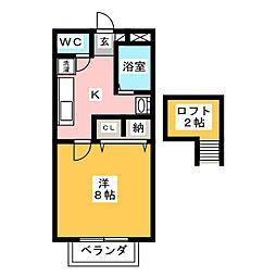 サンハイツサノックス B棟[2階]の間取り