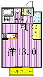 メゾンミヤシタ[103号室]の間取り