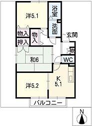 サンハイムOZUZAKI[1階]の間取り
