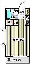 ローズアパートQ44[1階]の間取り