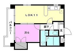 Kマンション No.6[701 号室号室]の間取り