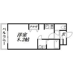 静岡県浜松市北区三方原町の賃貸マンションの間取り