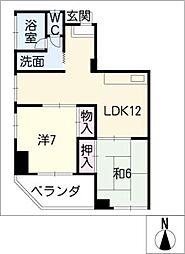 マルカネビル[4階]の間取り
