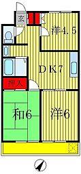 ルナマンション[2階]の間取り