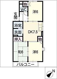 ベルホーム[1階]の間取り