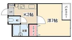 ニューアイコウマンション[203号室]の間取り