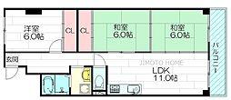 江坂ハイツ[1階]の間取り