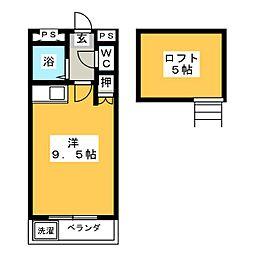 コーポイーストB棟[1階]の間取り