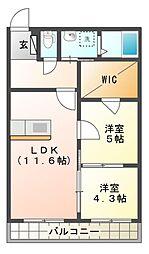 SANAEマンション[2階]の間取り