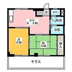 コーポY・I[1階]の間取り