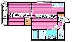 北海道札幌市北区南あいの里5丁目の賃貸マンションの間取り