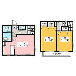 カーサ赤坂[1階]の間取り