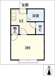 ハイツ翔A棟[2階]の間取り