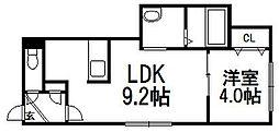 北海道札幌市西区山の手三条1丁目の賃貸マンションの間取り