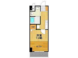 ハッピー新伊丹II[6階]の間取り