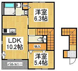 persimmon[2階]の間取り